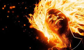 Image result for sci-fi burning face